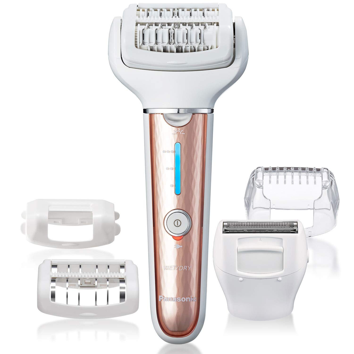 Panasonic Cordless Shaver Epilator For Women With 5 Attachments, Gentle Wet Dry Hair Removal for Legs, Underarms, Bikini, Face – ES-EL7A-P