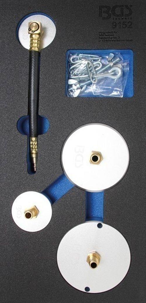 BGS 9152 Adapter-Satz f/ür Druckluft-Bremsenentl/üfter 4-tlg.