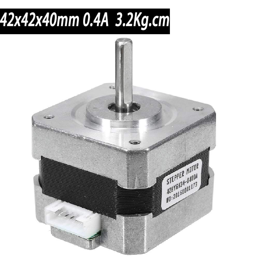 with 39in//1m Cable 26AWG,MOD:42HJA448 C/&KPower Stepper Motor 2Phase 17 Bipolar 1.5A 52Ncm 42x42x40mm 1.8/°3D Printer//Hobby CNC Motors Low-Noise High-Torque High Precision//Long Life