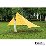 Camping Sun Shelter,FOME SPORTS|OUTDOORS Multipurpose Portable Pentagon Outdoor Awning Sunshade Sun Shelter Rain Survival Tarp Ultralight Waterproof Sunproof for Camping Hiking Fishing Beach