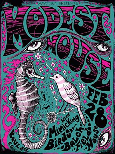 "Modest Mouse 2009 at Batch Field House Boulder, CO. Concert Poster 11"" x 17"" on Card Stock Art by Darren Grealish"