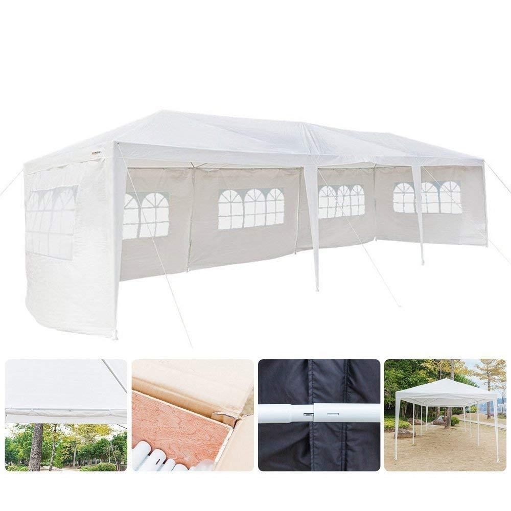 Mefeir 10'x30' Canopy Tent Party Wedding,with 5 Removable Windproof Sidewalls,Outdoor Patio Gazebo Pavilion Event Canopies,UV Protection Sunshade