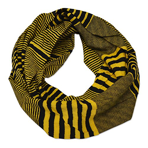 (Tickled Pink Women's Game Day Sports Team Apparel Scarf or Wrap, Black/Gold, 8 x 60