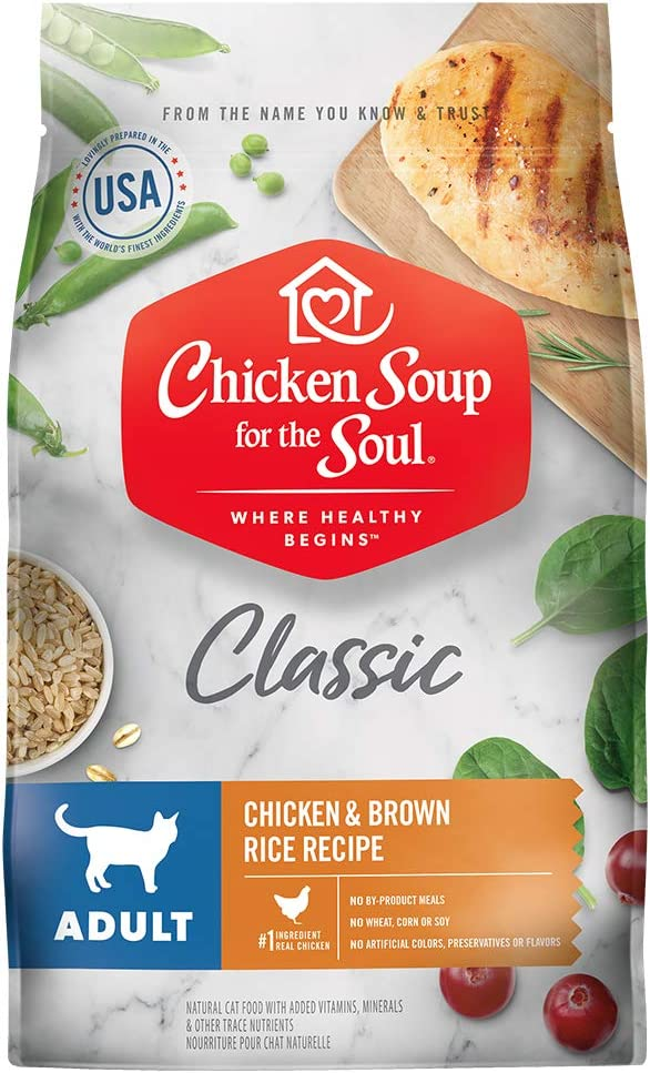 Chicken Soup for the Soul Adult Dry Cat Food - Chicken & Brown Rice Recipe