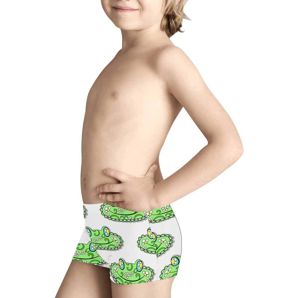 5T-2XL INTERESTPRINT Boys Green Frogs Performance Boxer Briefs