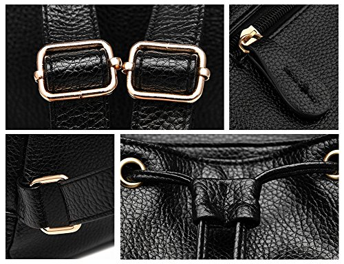 moda donne in in casual zaino mini pelle ragazze per scuola borsa e zaino pelle Z zaino joyee Black3 nzx61CzR