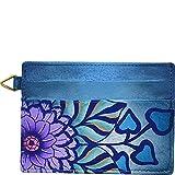 ANNA by Anuschka Hand Painted Credit Card Holder (Summer Bloom Blue)