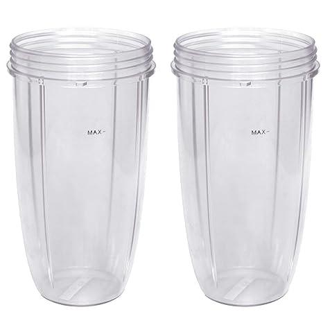 Nutribullet licuadora 24 oz vaso alto (lote de 2) | dos grandes Premium boder