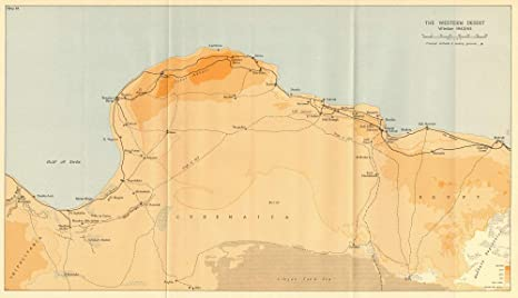 Libya On Africa Map.Amazon Com Western Desert Winter 1942 43 Libya North