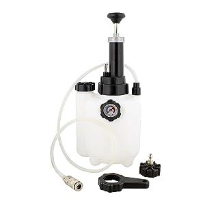 ABN Manual European Brake Bleeder, Brake Bleed Pressure Brake Bleeder Kit, One Man Brake System Bleeder, 3 Liter