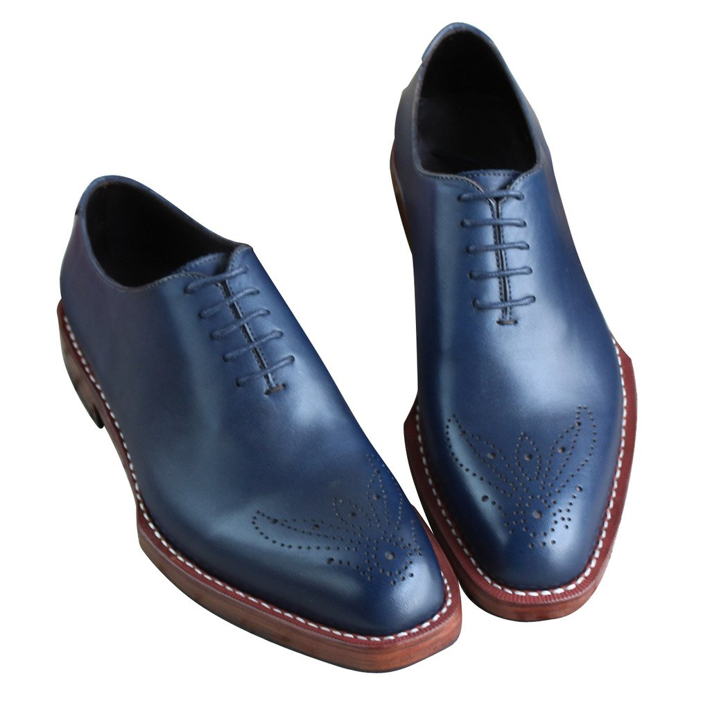 Custom Handmade Shoes Genuine Leather Business//Dress Oxfords Lace Up Big Size 37-50
