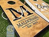 Custom Monogram Cornhole Board Set