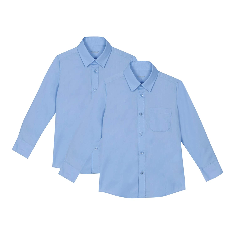Debenhams Kids 'Set of 2 Boys' Blue Slim Fit School Shirts