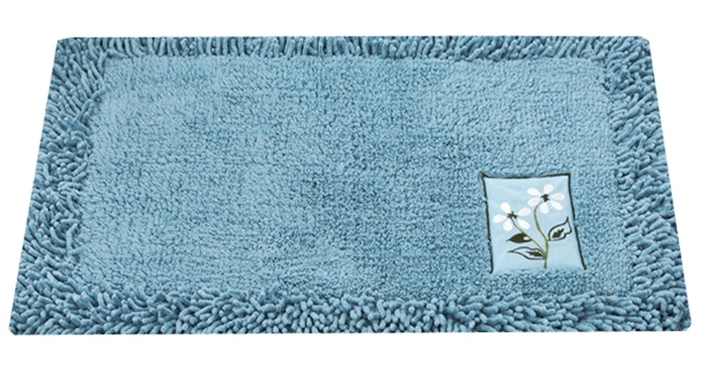 Multi-size Heavy Floral Embroidery Area Door Mat Floor Rug Runner Durable LivebyCare Chenille Doormat Entry Carpet Front Entrance Indoor Outdoor Mats for Decor Decorative Kids Children Bedroom