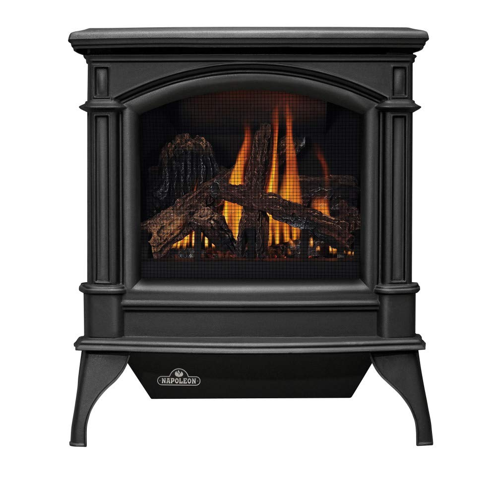 Napoleon GVFS60-1NN Fireplace, Natural Gas Stove Vent Free 30,000 BTU - Porcelain Majolica Brown by Napoleon