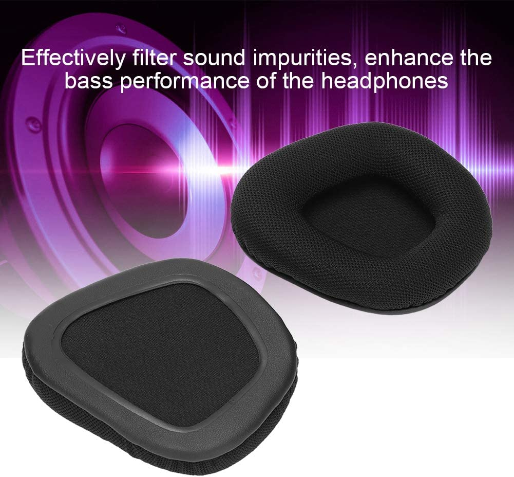 FYZ-183 Replacement Ear Pads Cushion Cover Earmuffs Earpads for Corsair Void PRO Black