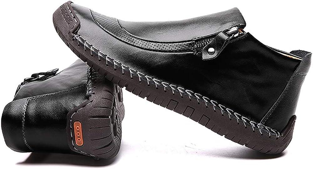 LIEBE721 Uomo Autunno Scarpe pi/ù Velluto Stivali da Uomo Mantieni Caldo Scarpe Piselli Allaperto Slittata Scarpe da Trekking