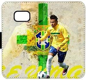 Neymar P8J2A Funda Samsung Galaxy Note caja de la carpeta del cuero 5 funda de plástico duro 377Jvw funda caso del tirón del teléfono