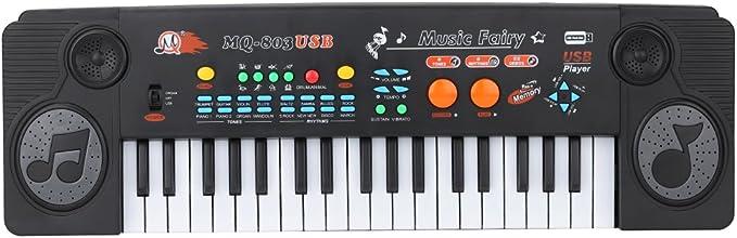 ammoon 21 teclado 37 llaves electrónicas con el micrófono y ...