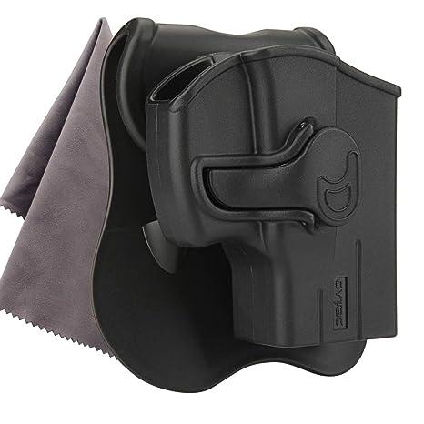 CYTAC Taurus PT111 G2 Holster, OWB Paddle Holster fit Taurus Millennium  PT132 PT138 PT140 PT145 PT745(No Pro), 360 Degree Adjustable Tactical  Polymer