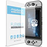 Nintendo Switch Screen Protector, Maxboost [Works While Docking, 3-Pack] Nintendo Switch HD PET Flexible Ultra-thin Enhanced Screen Protector for Nintendo Switch Gaming Case Console 2017
