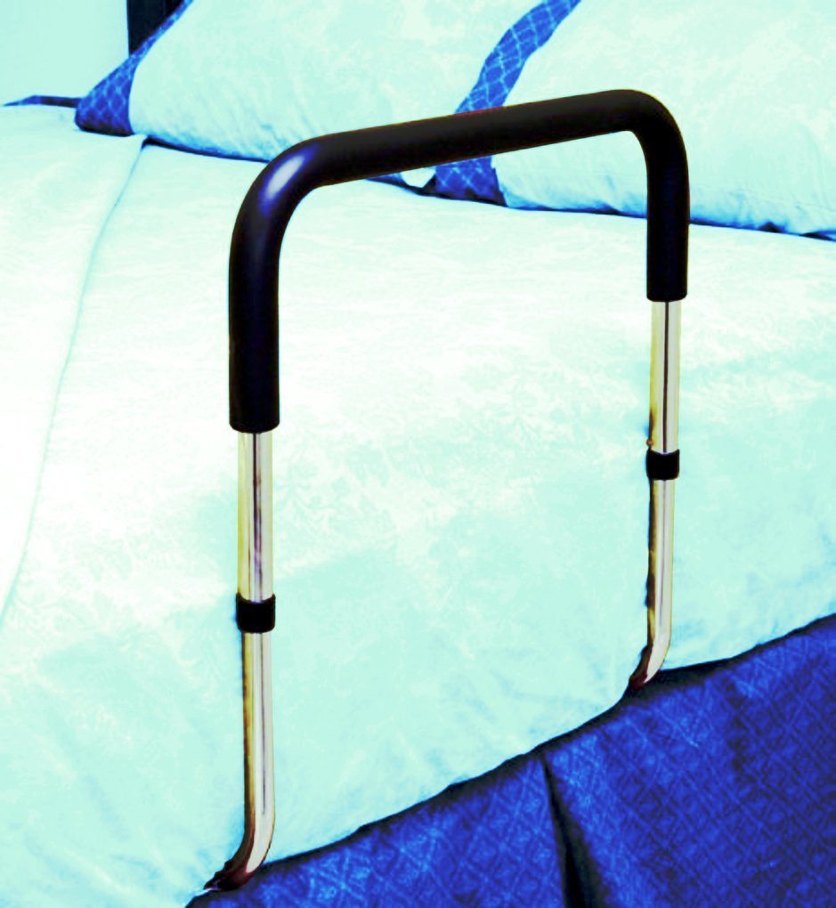 Adjustable Height Portable Bed Safety Rail Grab Bar And