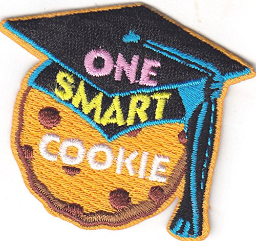one-smart-cookie-patch-school-dessert-iron-on-embroidered-applique