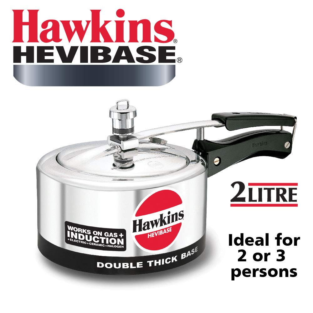 Hawkins Hevibase Aluminum Induction Model Pressure Cooker, 2 litres product image