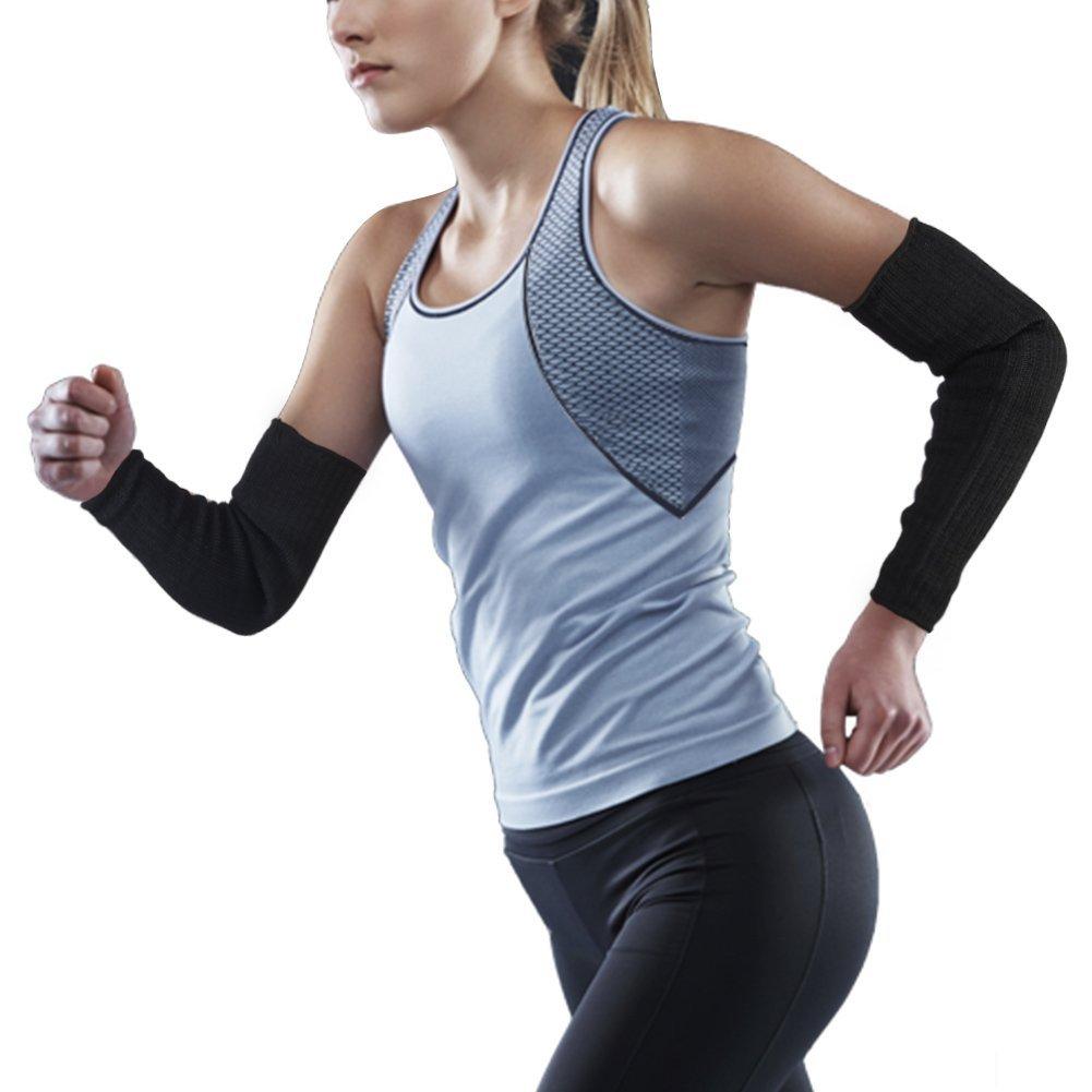 Manga de protección del brazo corte guantes de protección Anti-Cut Negro Kevlar Sleeve Arm Protection, 1 Par Brazo de alambre de acero Bracer Resistente al ...