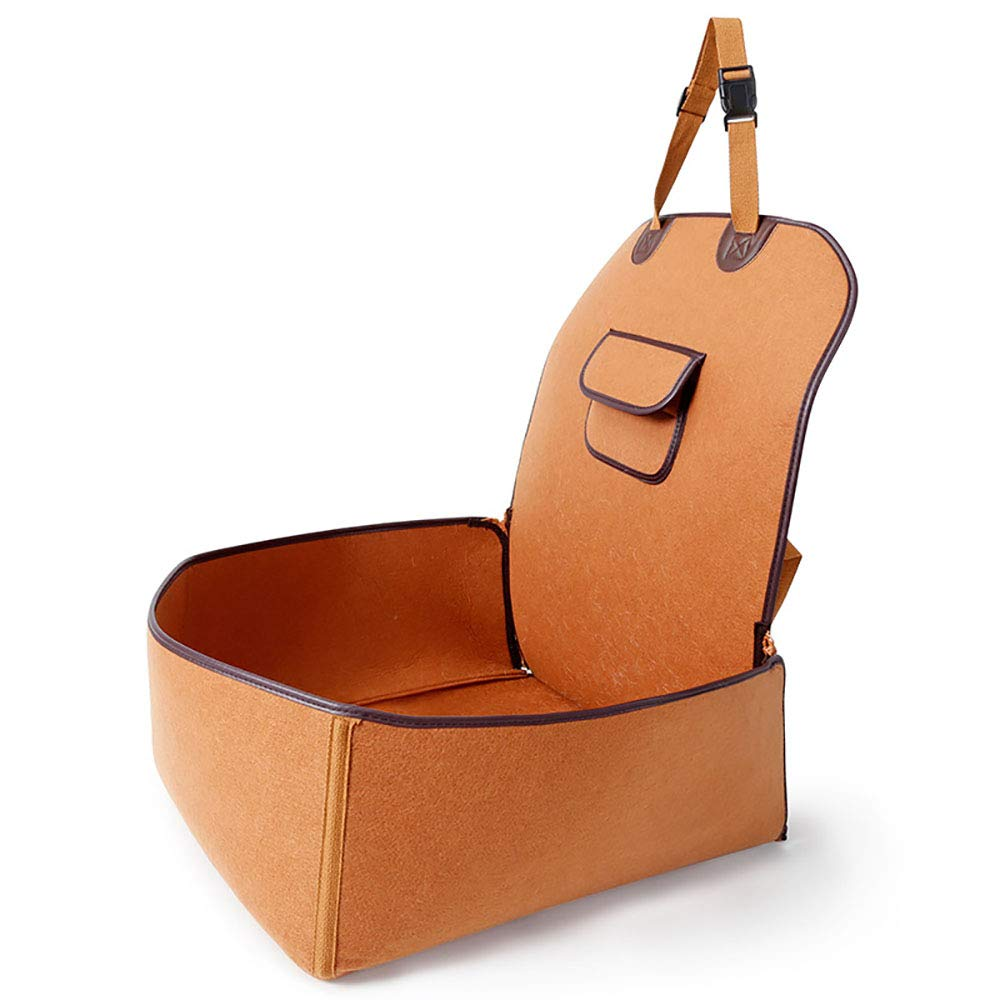 B Booster Seat Lookout Car Seat for Small Dogs and Cats,with Pockets and Carrying Case
