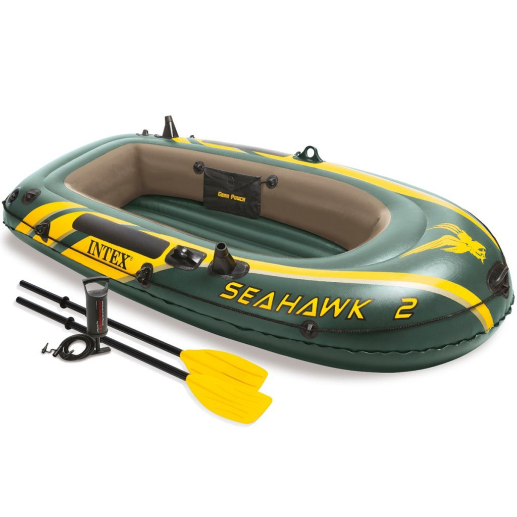 Intex Seahawk 2 Set Schlauchboot + Paddel + Pumpe Angelboot Ruderboot 68347NP