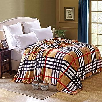 Double thick Blanket Corail hiver couvertures en molleton épais ...