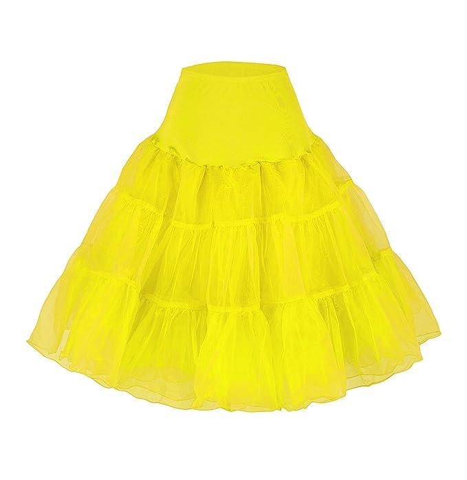 Cancan Enaguas falda vestido midi Cancan 50s Retro Rockabilly Enaguas Miriñaques Faldas vestido Petticoat hoopless crinoline