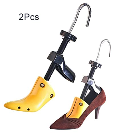 27972b53c096 Amazon.com  Zamango Pair of Women High Heel Shoe Stretcher,2-Way Plastic  Adjustable Ladies Professional Shoe Tree For USA Women s Size 4.5-9.5  Yellow  Home ...