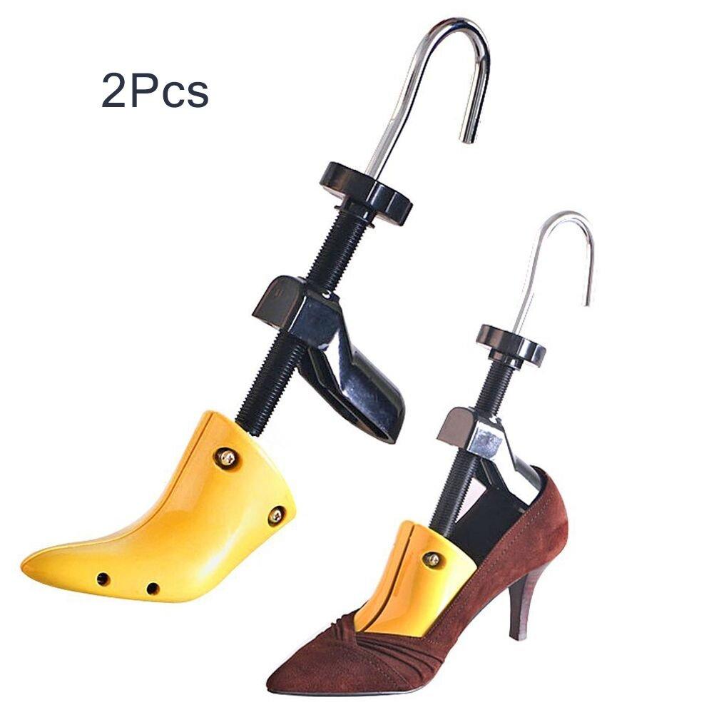 Zamango Pair of Women High Heel Shoe Stretcher,2-way Plastic Adjustable Ladies Professional Shoe Tree for USA Women's Size 4.5 - 9.5 Yellow
