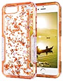 iPhone 6s Plus Case, HianDier Clear Glitter iPhone 6/6s Plus Protective Gel Case Pearl Foil Embedded Cute Case Shock Absorption Bumper Soft TPU Cover Case for iPhone 6 Plus & 6s Plus - Rose Gold