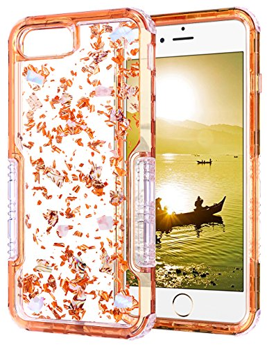 iPhone 6s Plus Case, HianDier Clear Glitter iPhone 6/6s Plus Protective Gel Case Pearl Foil Embedded Cute Case Shock Absorption Bumper Soft TPU Cover Case for iPhone 6 Plus & 6s Plus - Rose Gold by HianDier (Image #7)