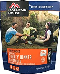 Mountain House 53103 turkey dinner, 2 servings (1 cup each) Pouch, this product is manufactured in United States.
