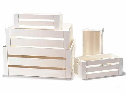 Cajas decorativas de madera reequipamiento blanco para casa y italiano