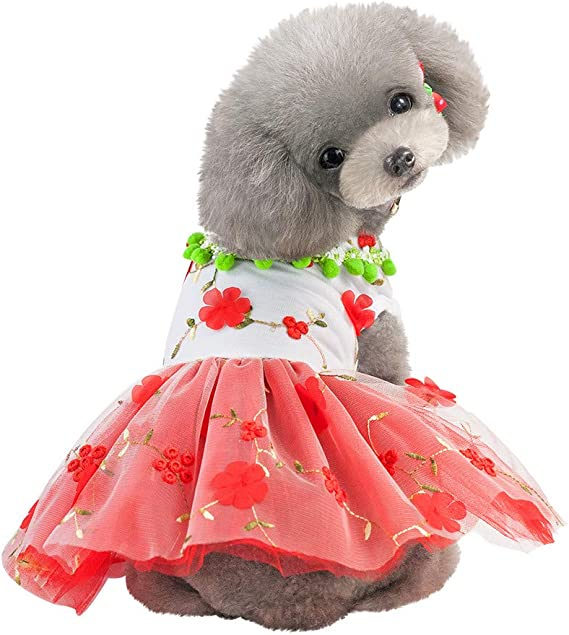 Xmiral Gonna Cani Abiti Vestiti Animale Domestico Cucciolo #52961