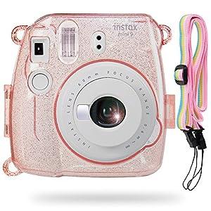 Katia Camera Case Bag for Fujifilm Instax Mini 9 Instant Camera , also for Fujifilm Instax Mini 8 Instant Film Camera with Strap