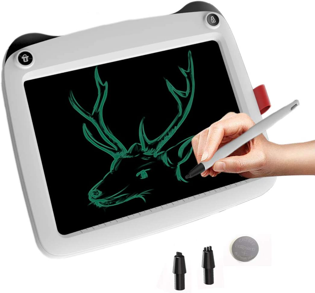 Birthday Gift for 4-5 Years Old Kids /& Adults Color LCD Writing Tablet with Stylus Smart Paper for Drawing Writer White-dp mom/&myaboys 9 inch Writing /&Drawing Board Doodle Board Toys for Kids