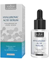 Anjou Hyaluronic Acid Serum, for Skin & Eyes, 1 oz, Pure Moisturizer to Hydrate & Enriches Skin, Reduce Wrinkles & Fine Lines, Paraben Free