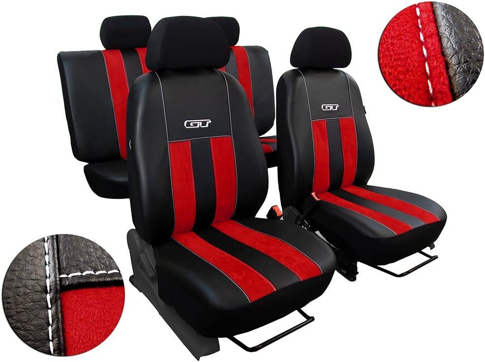 Pok Ter Tuning Autositzbezüge Sitzbezüge Set Kunstleder Mit Alcantra Design Gt In Diesem Angebot Rot Auto