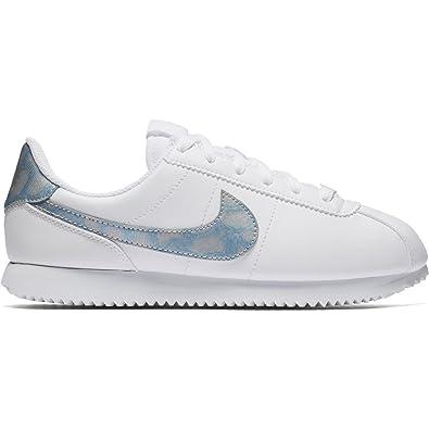 Zapatillas Nike - Cortez Basic SL (GS) Blanco/Azul/Blanco Talla: 36,5: Amazon.es: Zapatos y complementos