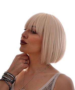 Perruque Courte Coupé au Carré Couleur Blond