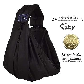 Cuby Porte-bébé Hamac De transport et allaitement Pour nouveau-nés (Black) 8fac0d9026c