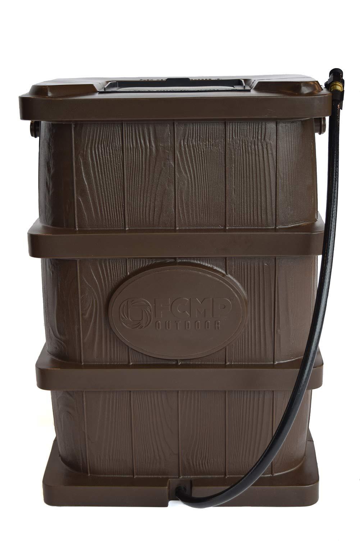 FCMP Outdoor WG4000-BRN Wood Grain Rain Barrel, Brown by FCMP Outdoor