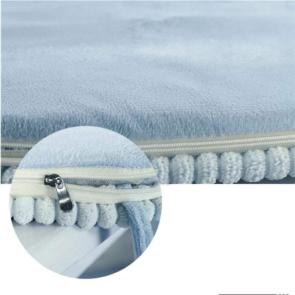 Pizzo Traspirabilit/à Non-Slip Inverno Tenere in Caldo Pattino,per La Casa Giardino Sgabello di Trucco-Deep Blue 25x35cm 10x14inch JiaQi Ammortizzazione Seduta Cuscino Quadrato Tinta Unita
