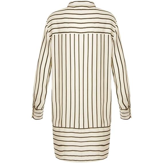 Camisa Long Shirt Coster Striped Copenhagen Para Marfil Mujer tEIEzqwc